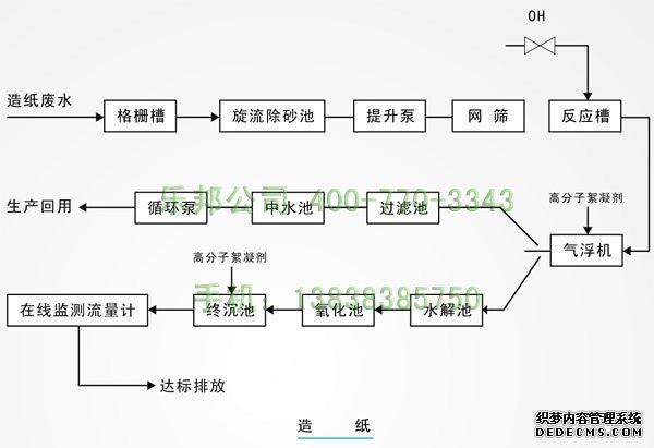 造纸厂用聚丙烯酰胺工艺流程图